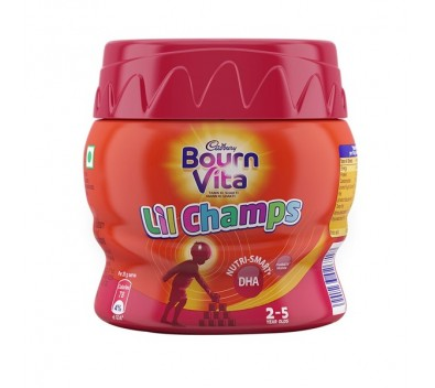 Cadbury Bournvita Pro-Health Chocolate Health Drink Little Champ, Jar, 200 g
