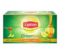 Lipton Green Tea Bag Lemon Honey, Sachet, 25N